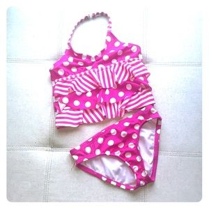 Other - 🎉HOST PICK 6/19🎉Pink Polka Dot Halter Top Bikini